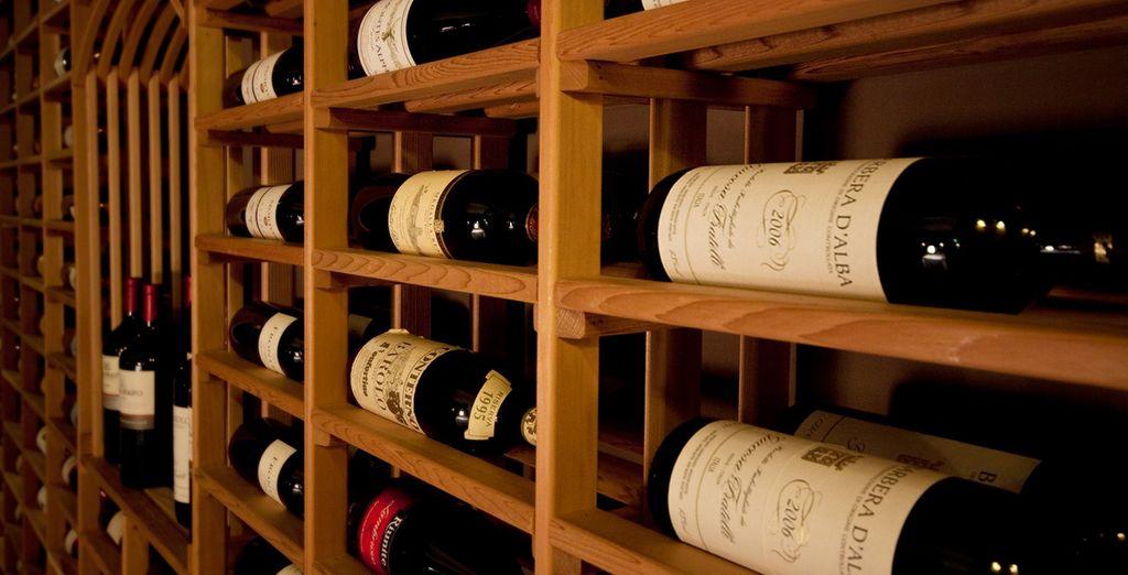 Accompagnati dal vino della rinomata cantina dell'hotel