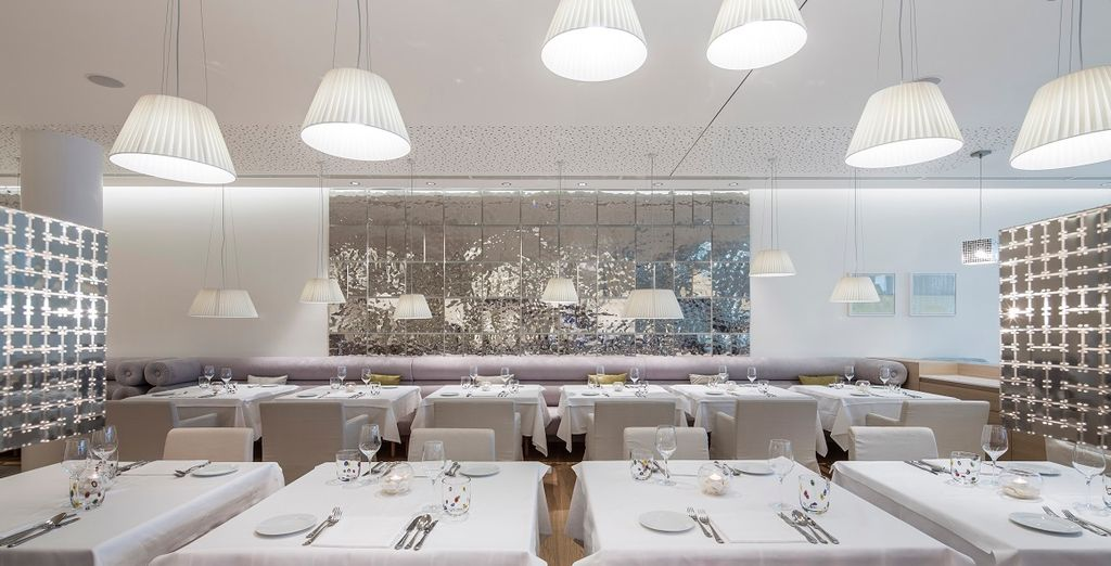 e nel ristorante è possibile assaporare la nostra cucina Alpe Adria