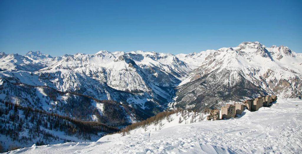 Paesaggio di Bardonecchia in Italia