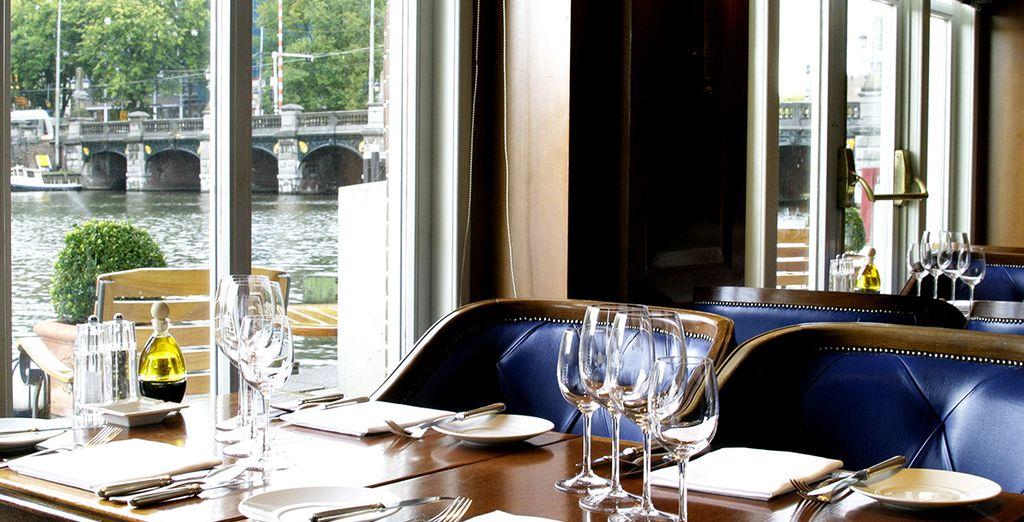 Un pranzo, una cena o uno spuntino la Amstel Brasserie sarà il posto ideale