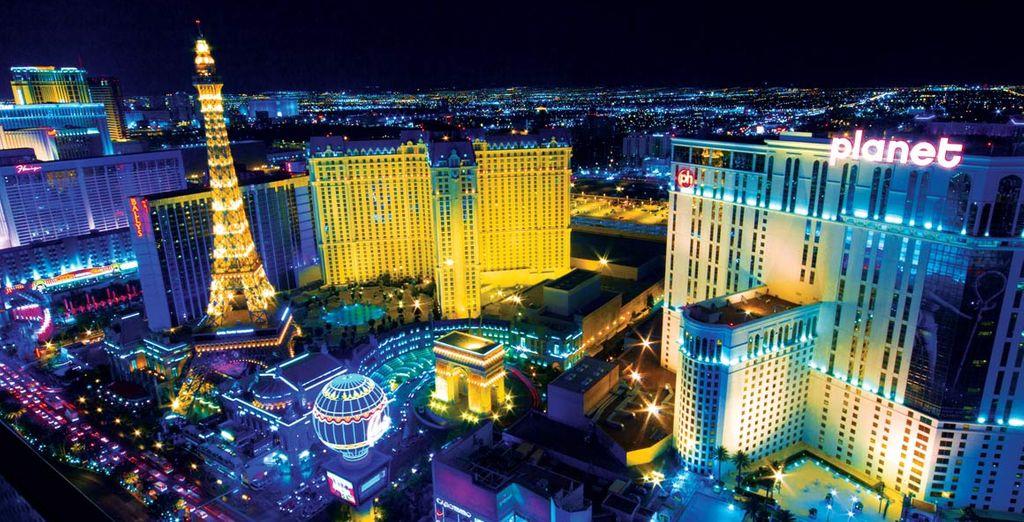 Passando dalle luci di Las Vegas