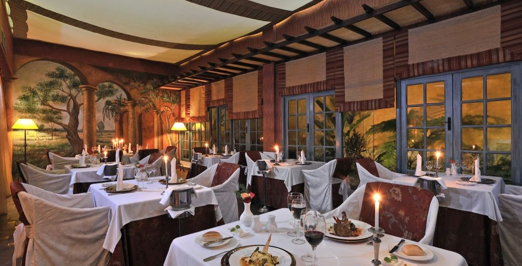 Il resort dispone di 6 raffianti ristoranti