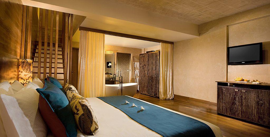 Dove alloggerete in eleganti in Muaya Duplex Suite di 80 mq