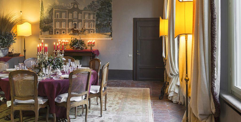 Il salone a disposizione degli ospiti per gustare un'ottima colazione