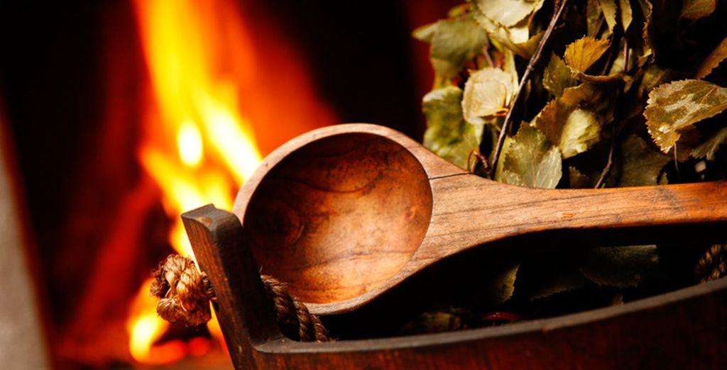 Nella vostra camera potrete concedervi la sauna finlandese quando preferirete