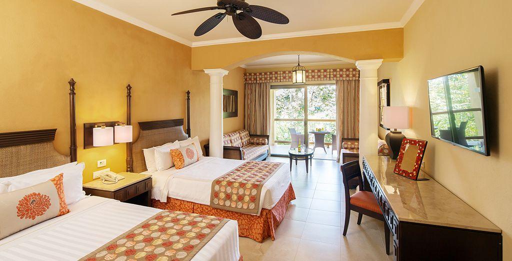 La vostra incantevole e spaziosa camera Junior Suite Deluxe