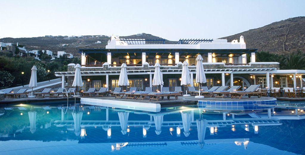 Una lussuosa struttura in stile tipico greco