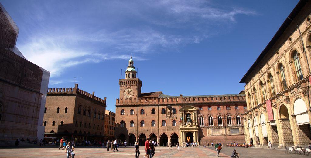 Fotografia del centro storico di Bolzano e dei suoi monumenti storici
