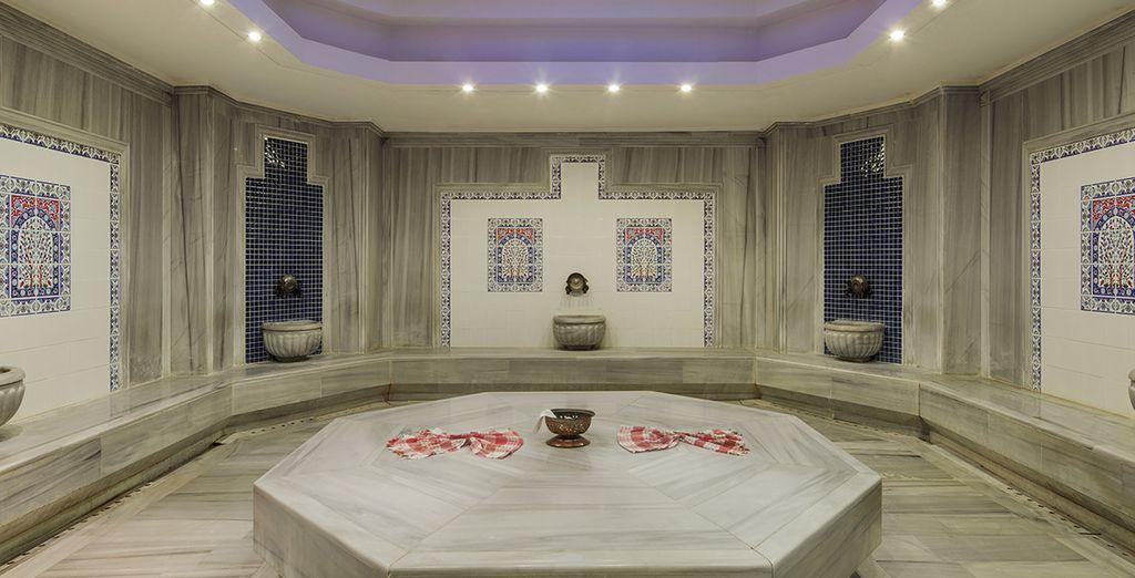 Il bagno turco è l'ideale per rilassarvi