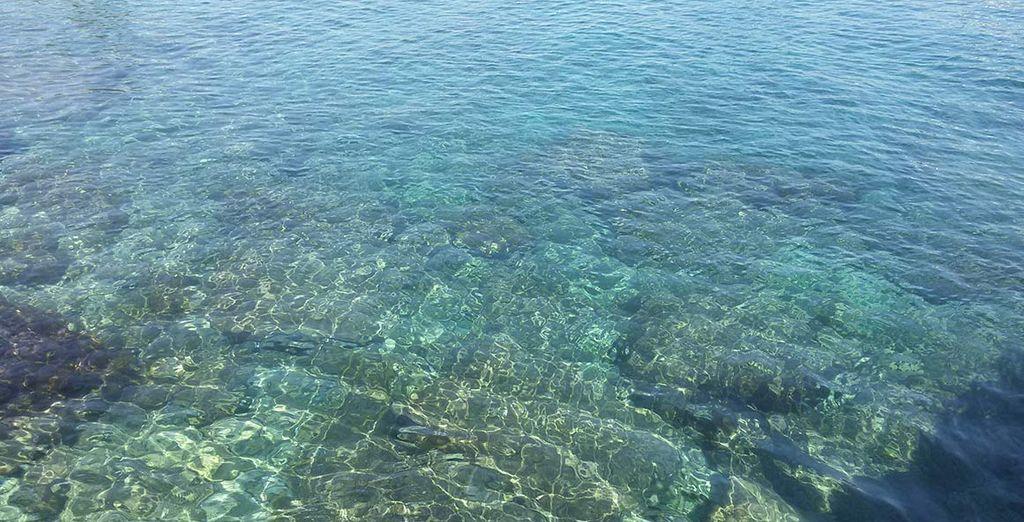 Le acque sono cristalline