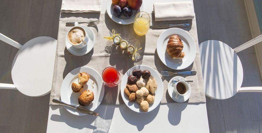La vostra colazione a base di prodotti freschi vi darà la giusta carica giornaliera