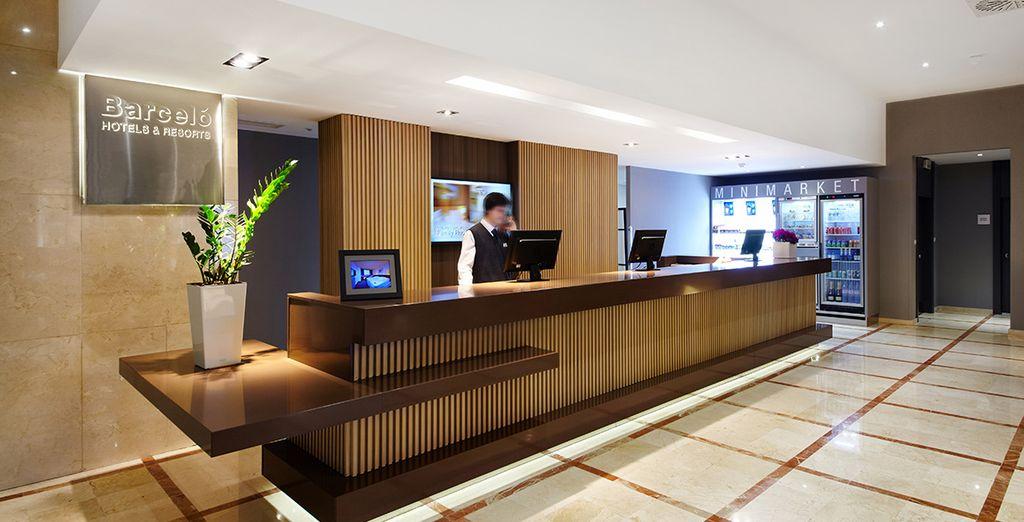 un moderno hotel dotato di tutti i moderni servizi