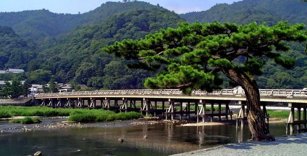 Dove visiterete il Togetsuko Bridge