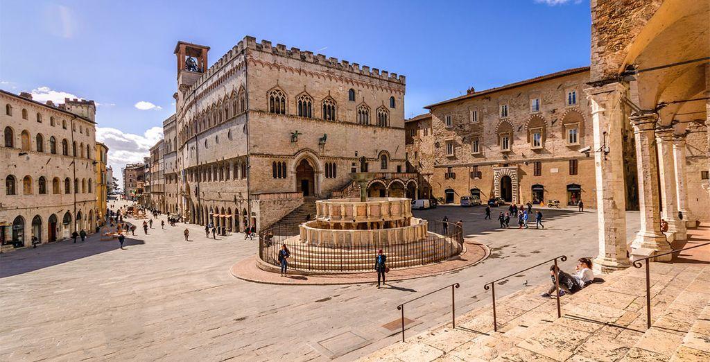Come la bellissima Perugia, meta molto apprezzata in particolare per il suo centro storico