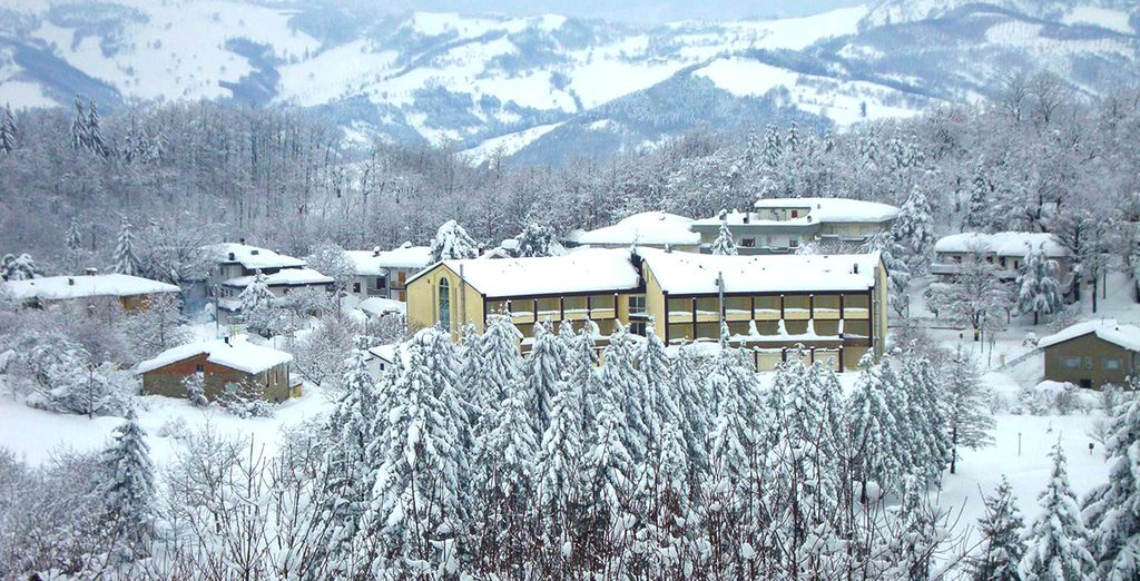 uno scenario che può diventare magico d'inverno grazie alla neve