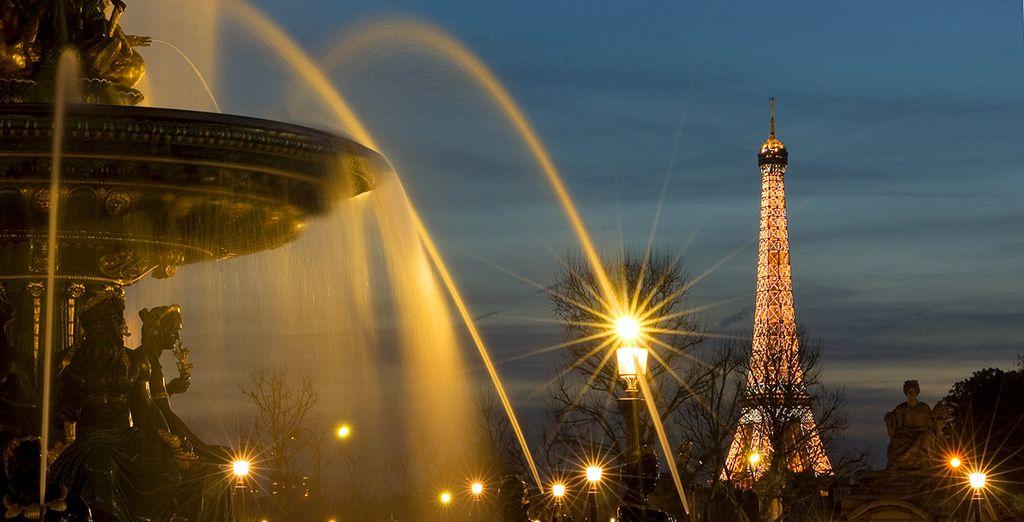 e poi come dimenticare la Tour Eiffel, tutto sarà a portata di mano