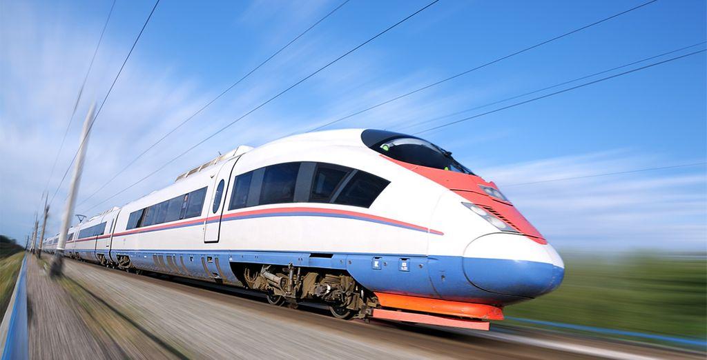 Vi sposterete da Mosca a San Pietroburgo grazie al treno veloce Sapsan