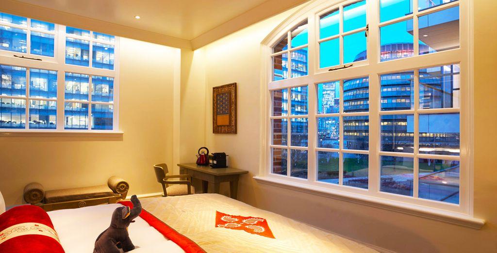Tutte le camere sono arredate richiamando l'arte e la cultura indiana, unita a dettagli ed elementi della tradizione britannica