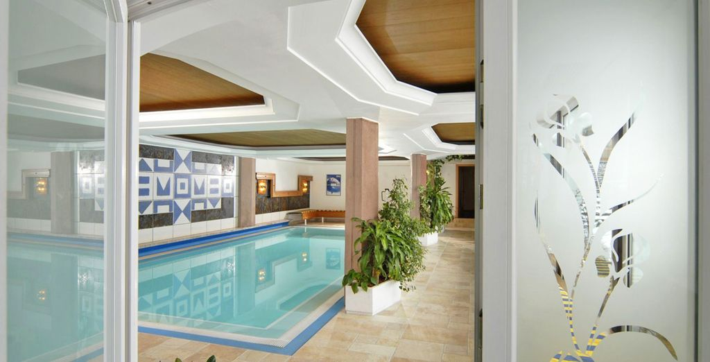 Qui potrete rilassarvi nella splendida piscina