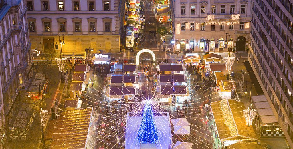 Vivete un'esperienza indimenticabile a Budapest circondati dalla tipica atmosfera natalizia.