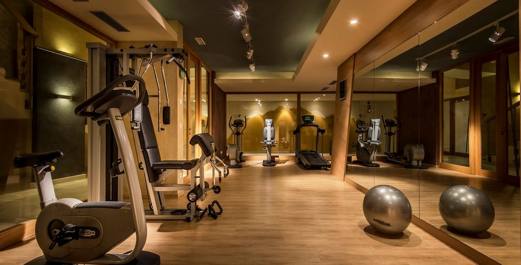 e potrete allenarvi anche nella sala fitness