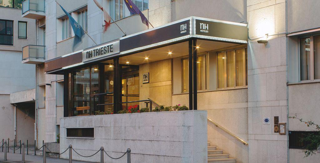 In una moderna struttura come il NH Trieste 4*