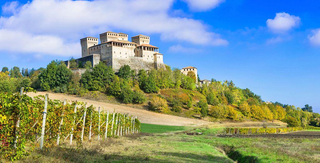 I dintorni di Collecchio vi faranno innamorare con la loro bellezza naturale e storica, come il castello di Torrechiara che dista 12 km dall'hotel.