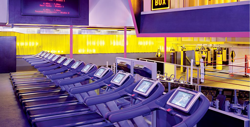 A vostra disposizione l'accesso all'incredibile palestra Gymbox