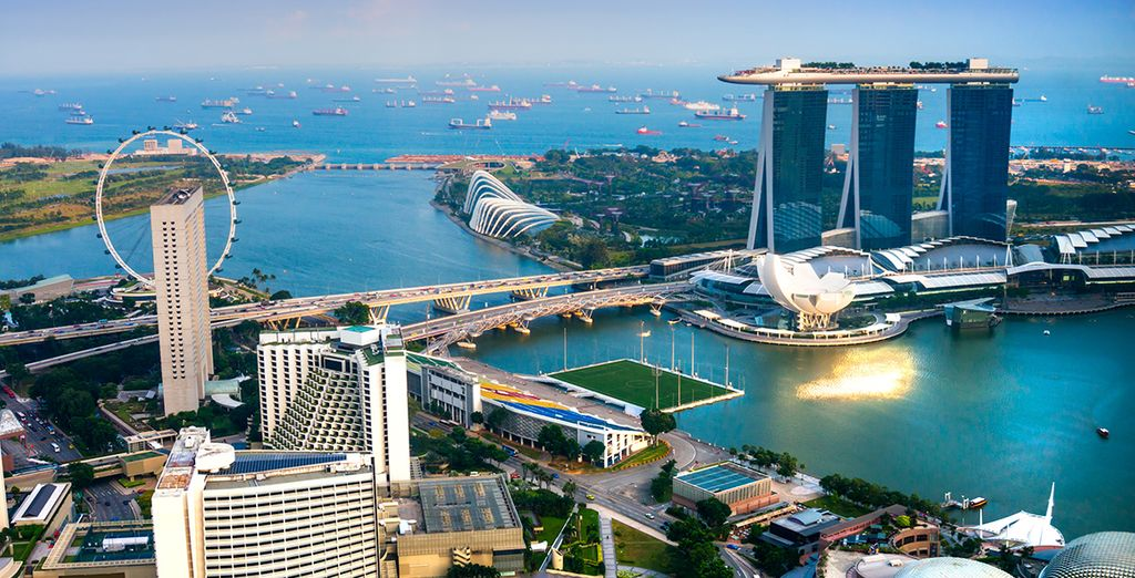 Prima tappa l'affascinante Singapore dove trascorrerete le prime 3 notti del vostro viaggio
