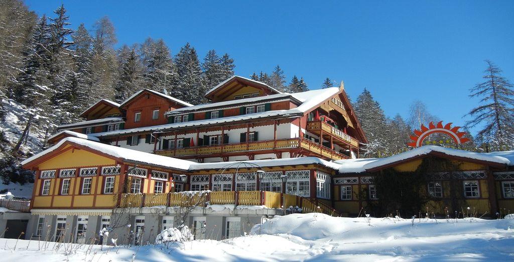 elegante location da cui ammirare il paesaggio circostante durante la stagione invernale