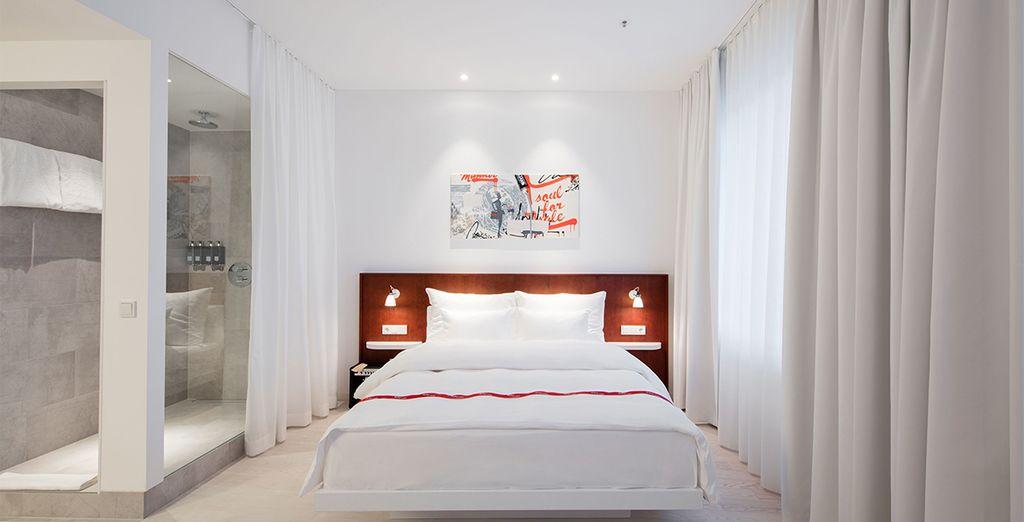 Le vostre confortevoli camere Cosy vi offriranno il massimo del relax