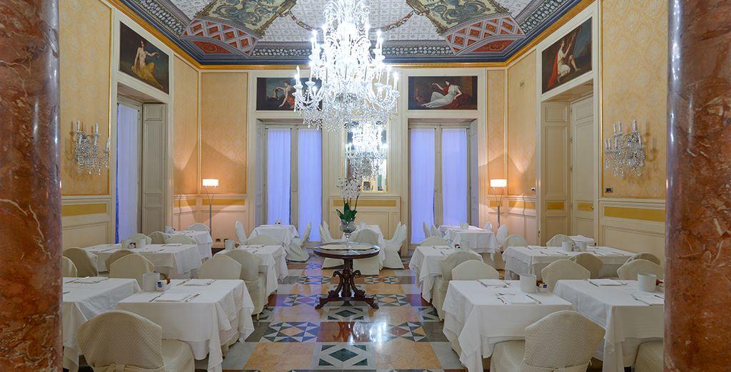 Le proposte del ristorante di Eurostars Centrale Palace Hotel passano per mano dello chef Francesco Inzerillo
