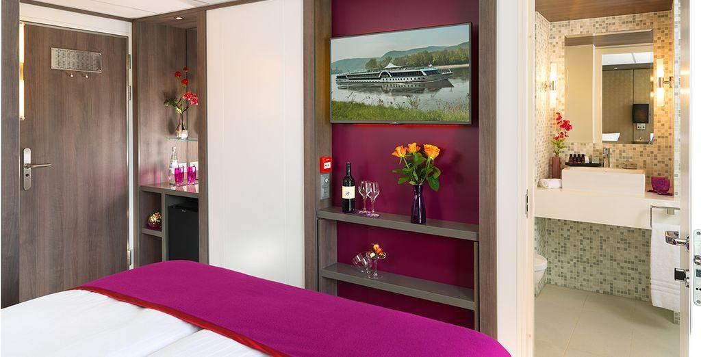 Camera doppia con tutti i comfort e bagno privato