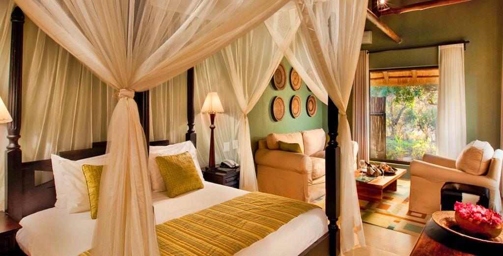 Hotel di lusso con camera doppia nel cuore del parco naturale