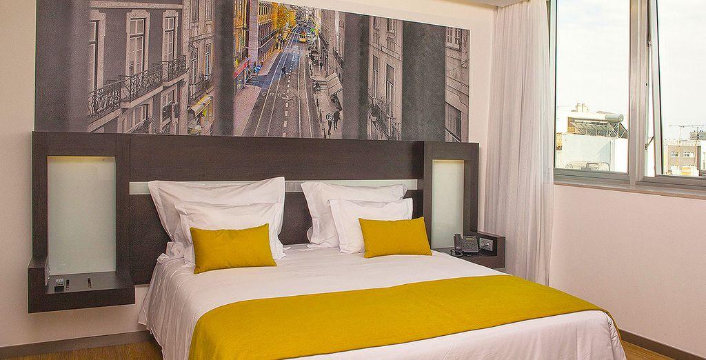 Affascinante hotel a Lisbona vicino a tutte le attività, confortevole camera doppia