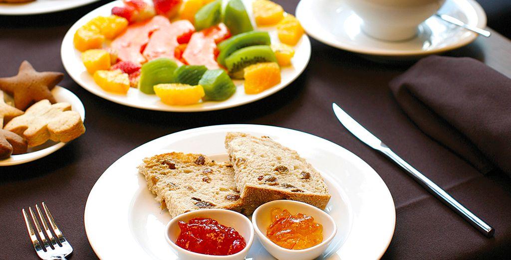 Potrete cominciare la giornata con una abbondante prima colazione