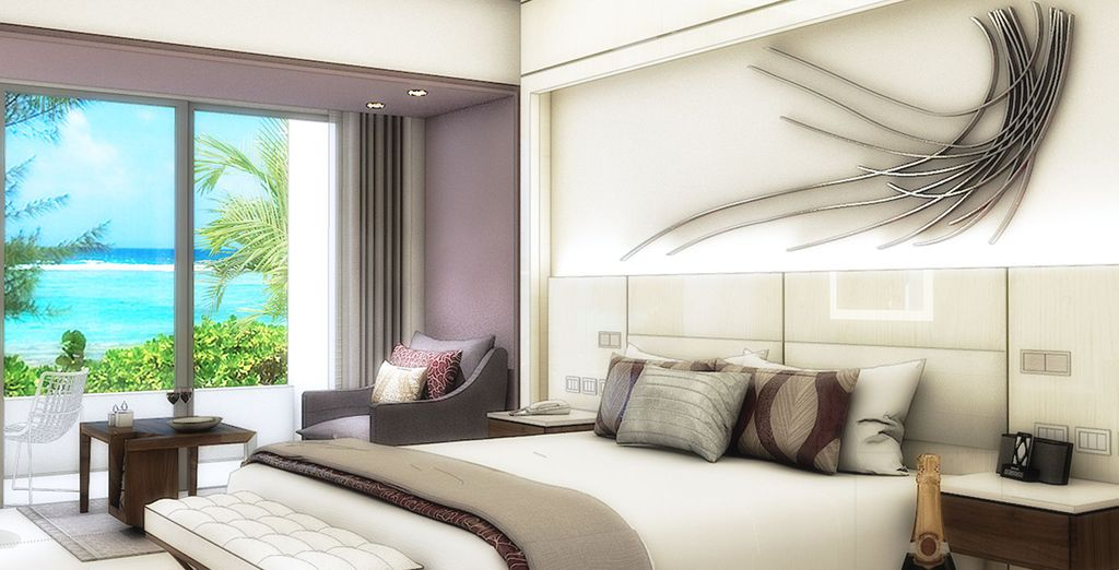 Soggiornerete in camere Luxury Junior Suite con Vista Oceano