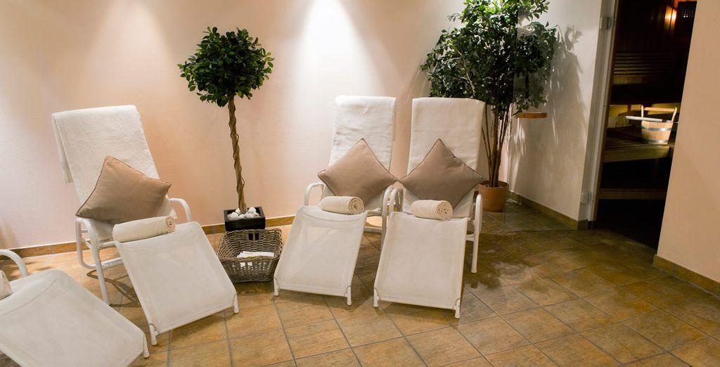 Dopo una giornata in giro per la città, potrete rilassarvi nella piacevole spa dell'hotel