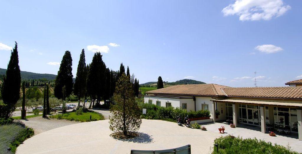 Il relais è situato in una villa in stile liberty