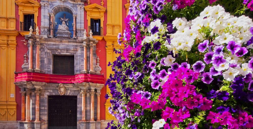 Potrete visitare bellissime città dai colori pittoreschi, come Malaga