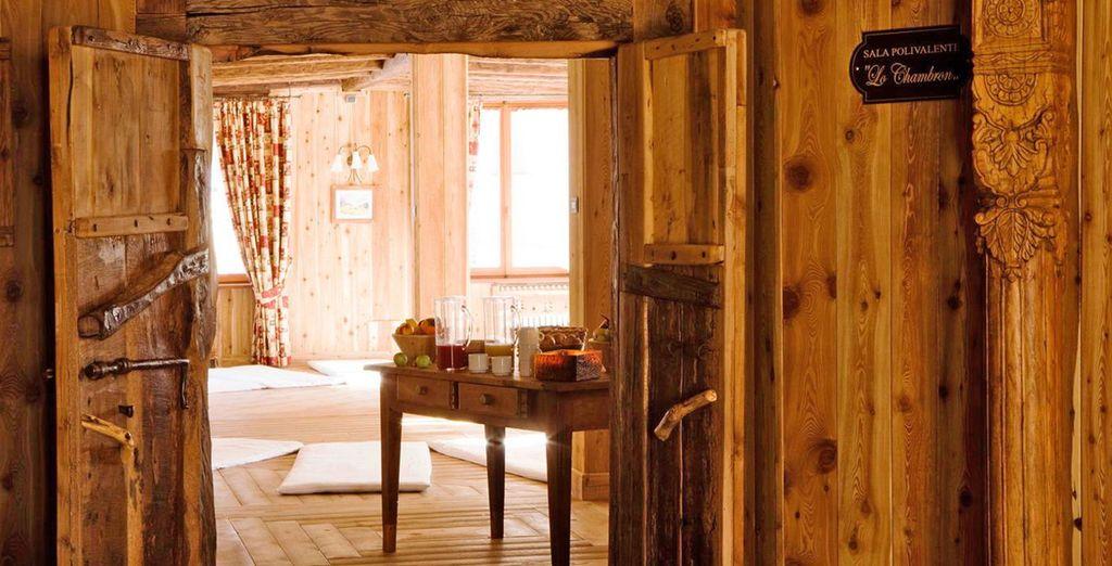 dove il legno e le materie del territorio predominano