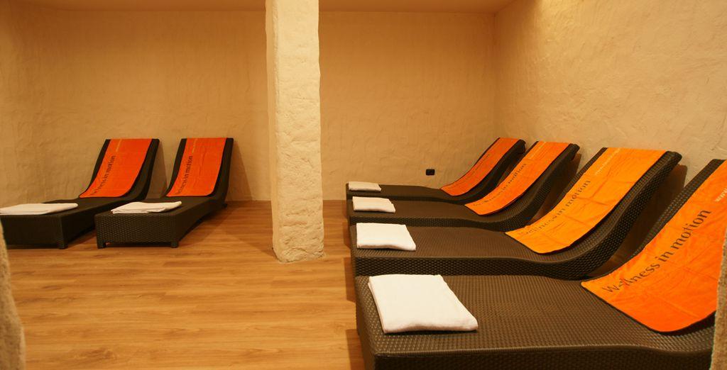 e della sala relax per recuperare le energie