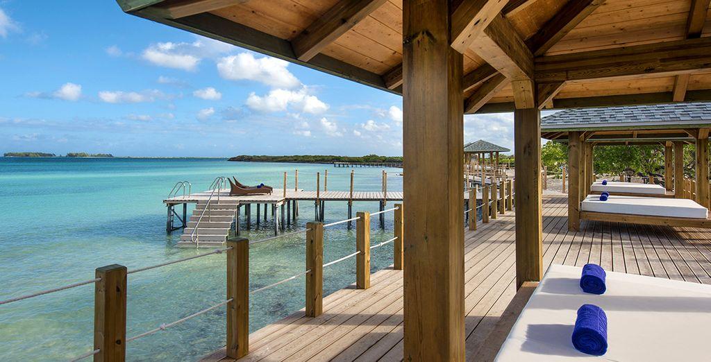 Avrete modo di rilassarvi in spiaggia godendo di un vero trattamento 5*