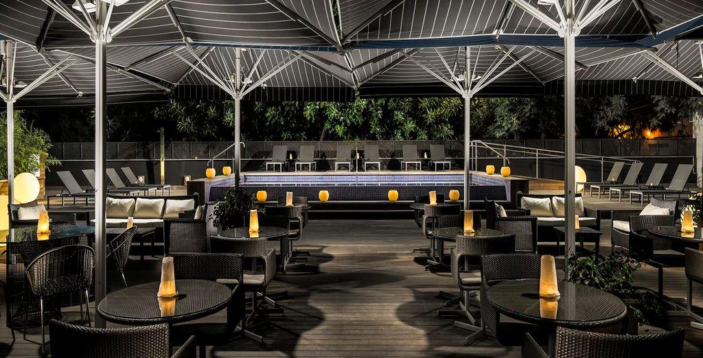 Un hotel esclusivo con splendida terrazza panoramica