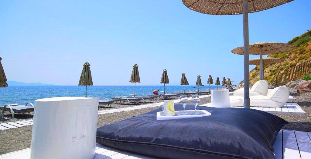 Trascorrerete momenti di tranquillità presso la spiaggia privata dell'hotel