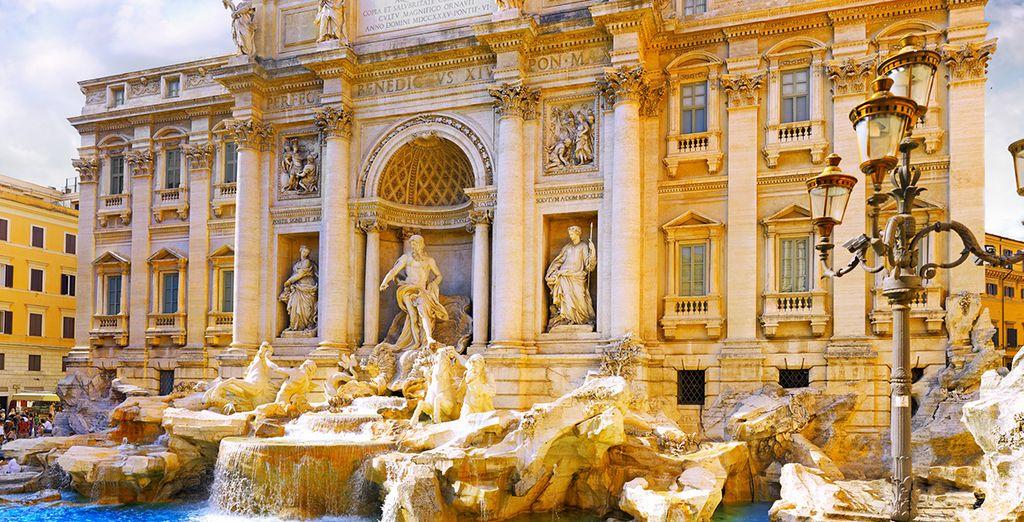 Non dimenticate di esprimere un desiderio lanciando una monetina nella Fontana di Trevi.