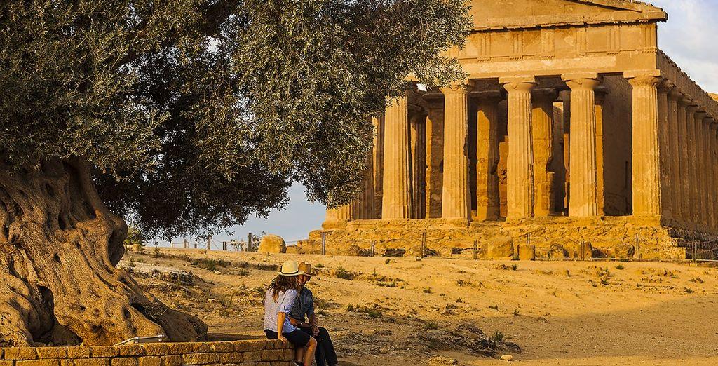 dove potrete ammirare il maestoso Tempio di Zeus Olimpio