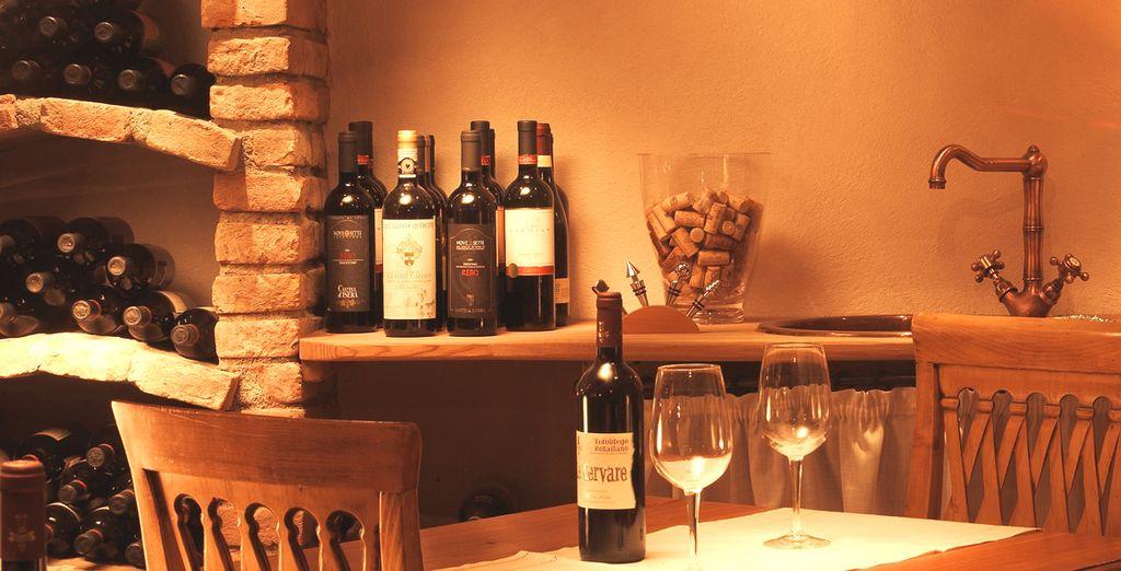 Nella cantina vengono organizzate degustazioni di vino e grappe