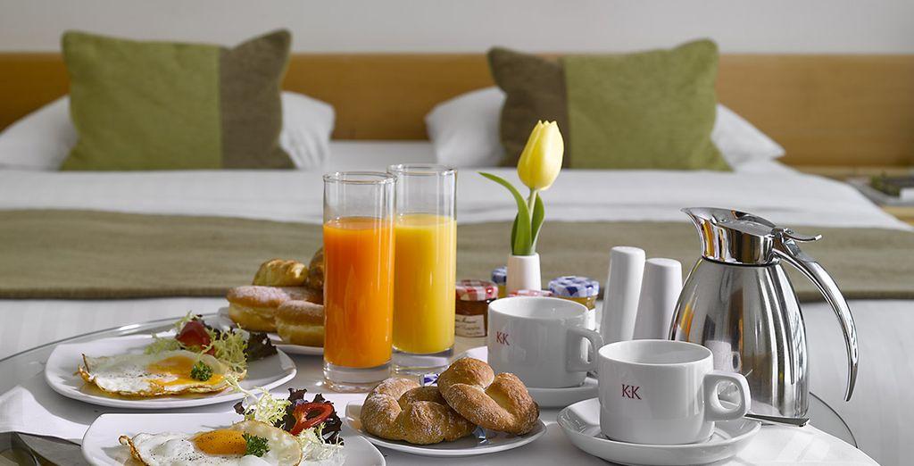 dove poter richiedere la prima colazione da gustare nella massima intimità