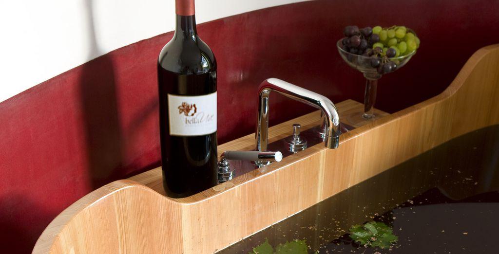 Con trattamenti di vinoterapia